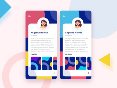 Abstract Portfolio Page For iOS app web icon vector android app ios app ui ux illustration uiux