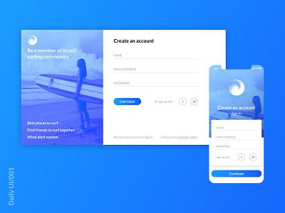 Daily UI 001 web daily ui dribbble branding minimal ui daily ui 001 ux ui design app