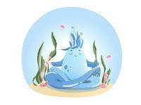 Meditating Sea Monster