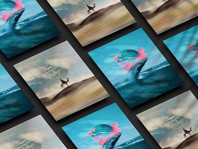 Further Existence clouds blue artworks illustrator illustration planets behance adobe art photomanipulation digital photoshop