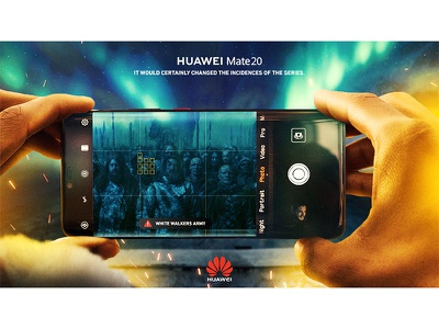White walkers Mate20 ice mobile fire creative key art game of thrones mate20 huawei key visual photomanipulation photoshop