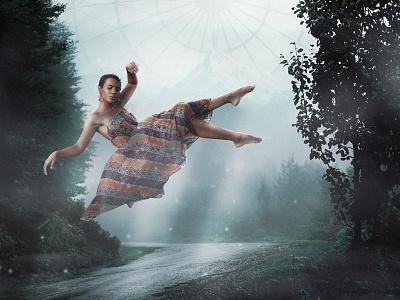 Made to be broken. man fog clouds design girl surreal adobe art photomanipulation digital photoshop