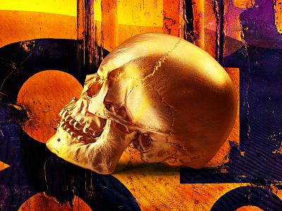 2. Planet adobe behance black desert design gold skull globalwarming art photomanipulation digital photoshop