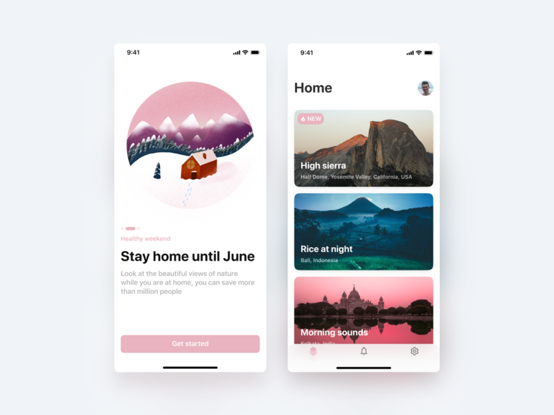 Concept for app about virtual tour of places branding illustration card interface design ux ui virtual app design concept app