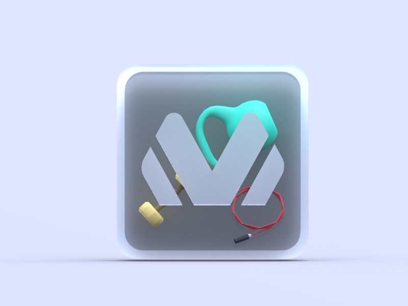 3D Icon sport design icons gym 3d icon