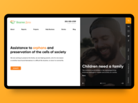Design for a charity site