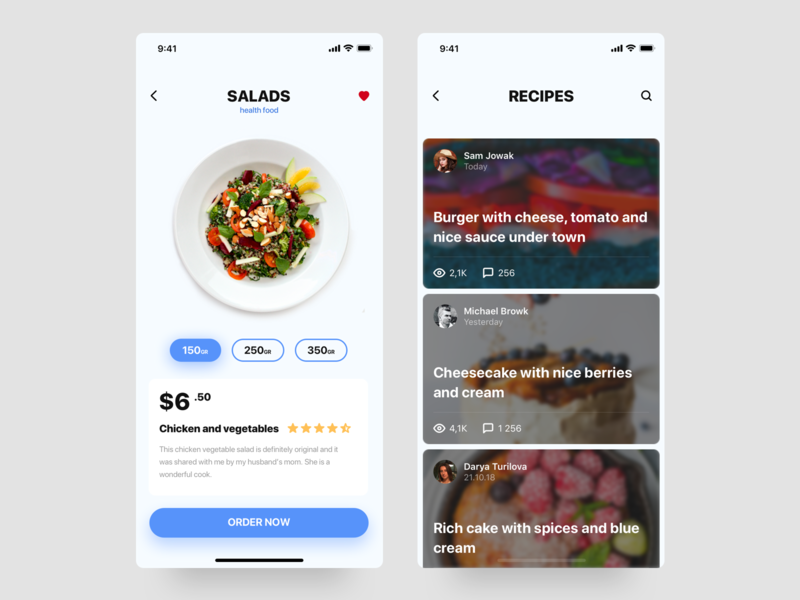 Food app app food app food ios human interface typography card ux interface design ui