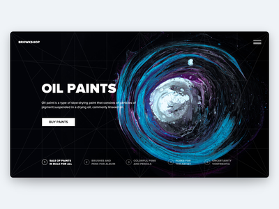 Paint shop branding typography hero hero page web interface design ui