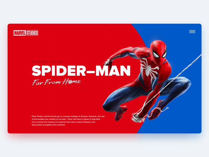 Hero page for a new movie typography hero ux hero page web interface design ui