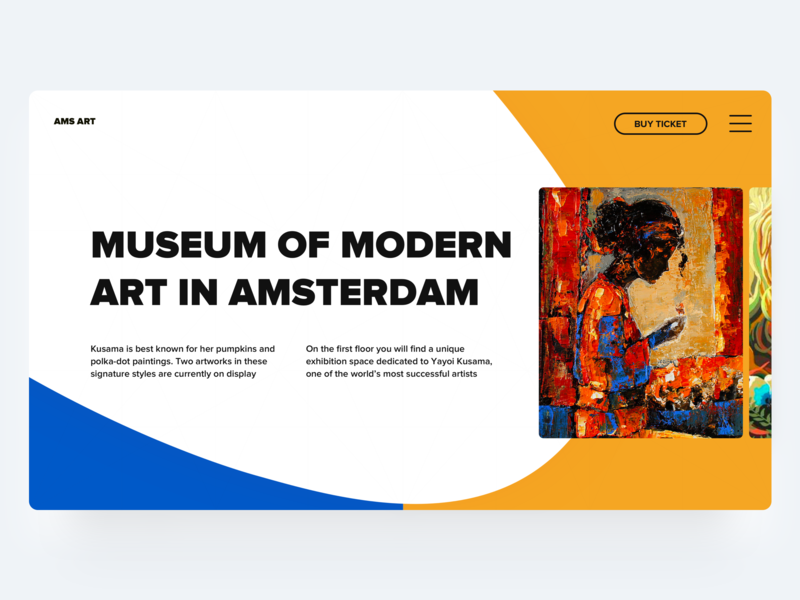 Museum of art museum of art museum typography hero ux hero page web interface design ui