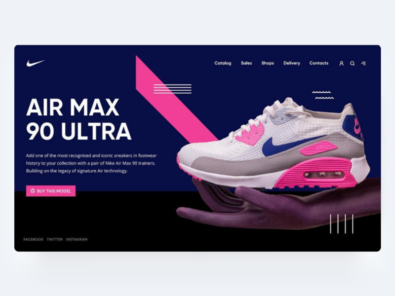 AirMax Hero Page nike air max nike shoes card typography hero hero page web interface design ui