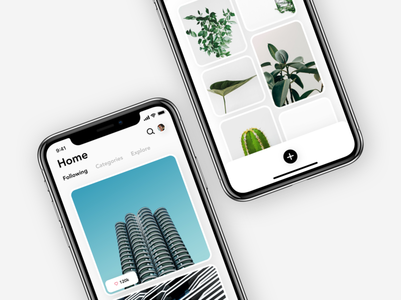 Minimal Photo sharing - Exploration minimal minimalist app ui ux copenhagen concept design modern ui design branding mobile app user interface photo photo sharing photography picture images share