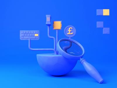 IT Landscape Audit low-poly animation illustration design 3d