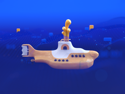 Yellow Submarine privacy blender objectivity design 3d