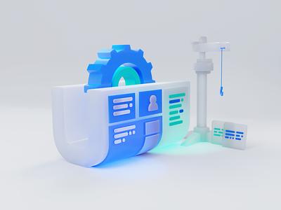 Web Development Concept development umbraco design blender objectivity 3d