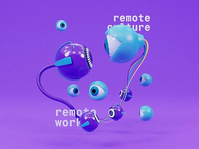 Remote work blender animation objectivity design 3d
