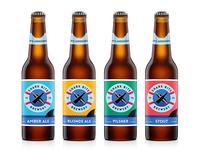 Shark Bite Brewery bottle & necker labels