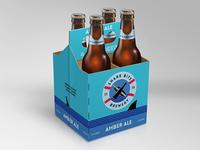 Shark Bite Brewery packaging