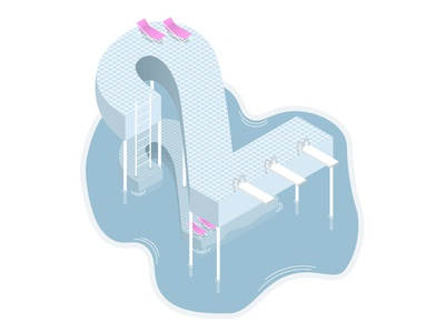 Two Isometric Pool Floors