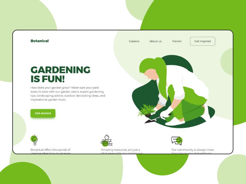 Botanical gradening planting plants vector illustrations illustration green botanical