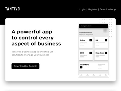 Mobile App UI Design for ERP