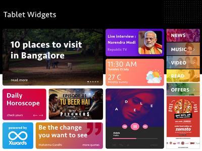 Tablet Widget Design - BrandzGarage