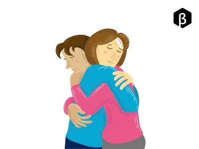 Character Illustration - Loving Hug