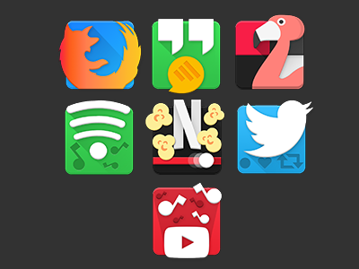 Squared android app icons