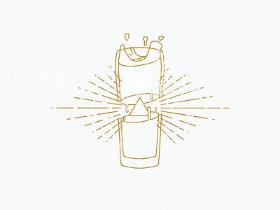 Secret Society of the BrewMaster illuminati gold illustration line beer