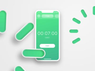The Countdown green dailyui ui countdown