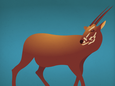Endangered 16 Saola 100dayproject the100dayproject 100endangeredspecies endangeredspecies illustration