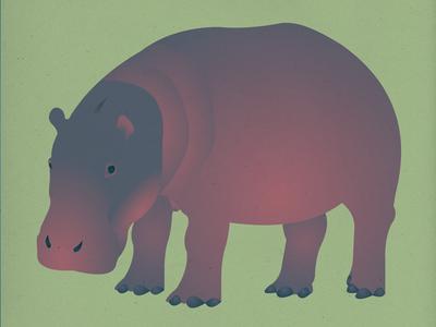 Endangered 18 Hippopotamus 100dayproject the100dayproject 100endangeredspecies endangeredspecies illustration