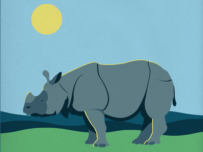 Endangered 30 Greater One-Horned Rhino 100dayproject the100dayproject 100endangeredspecies endangeredspecies illustration