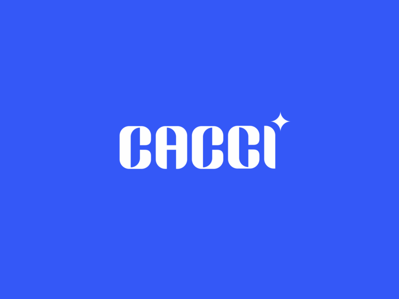 CACCI DRIB brand fashion blue typedesign typeface wordmark