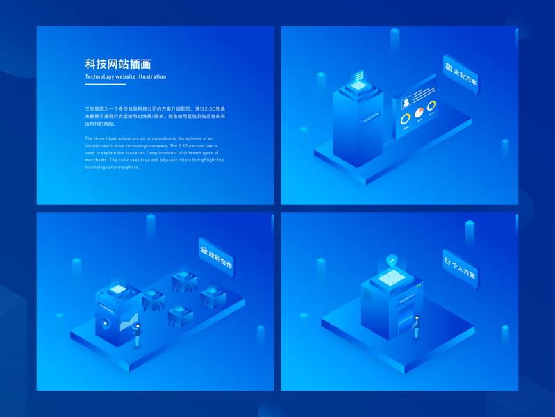 科技网站插画/Technology website illustration