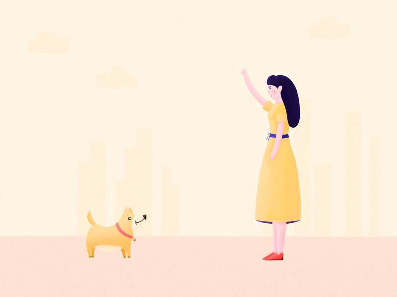 Pet community UI illustration 01