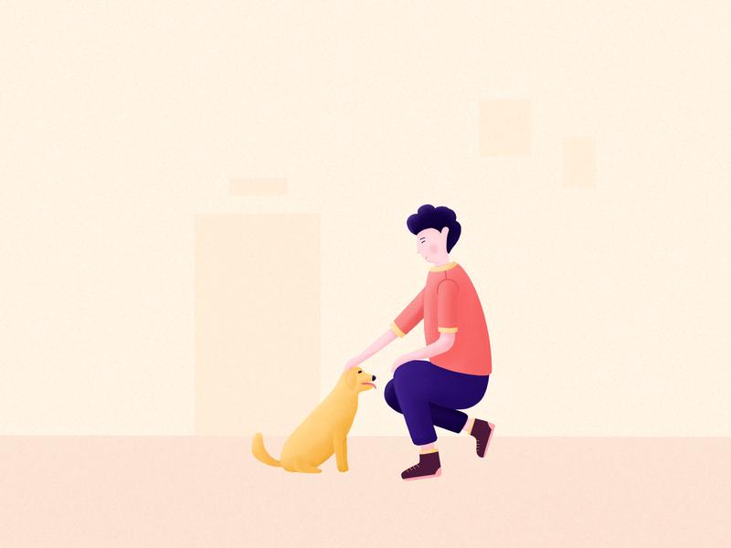 Pet community UI illustration 02
