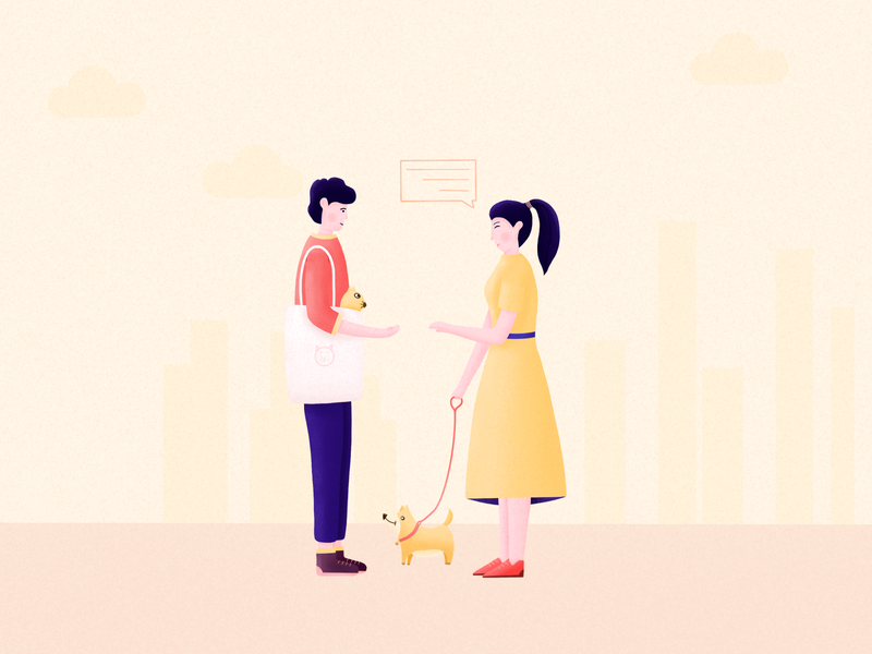 Pet community UI illustration 03
