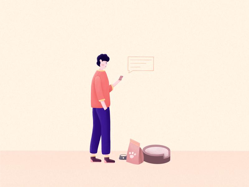 Pet community UI illustration 04