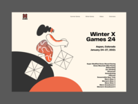 X Games Design Concept illustraion sport web landing page landing desktop landingpage landing design design concept ui concept