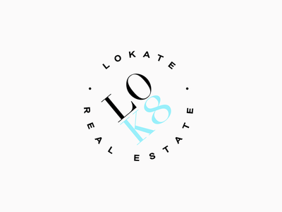 LOK8 Logo Design designer icon colors concept business branding art design logo 2d agency real estate