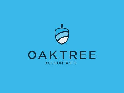 OakTree Accounts Logo Design work graphic type flat branding design icon logo 2d oak tree tree oak