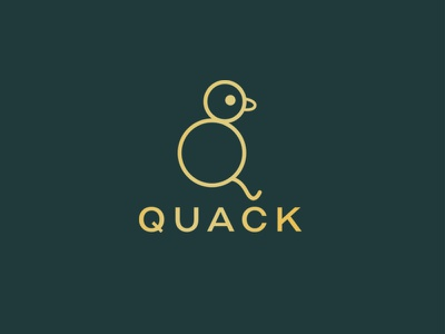 Quack Logo Design vector icon illustration flat 2d branding art line lineart design logo quack