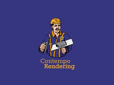 Contempo Rendering Logo Design typography icon vector 2d illustration logosketch logo design branding logos logodesign rendering contempo