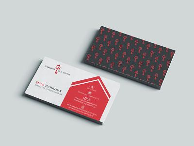 Harrison Housewife Business Card Design minimaldesign moderndesign branding design graphic house logo card business housewife wife house harrison