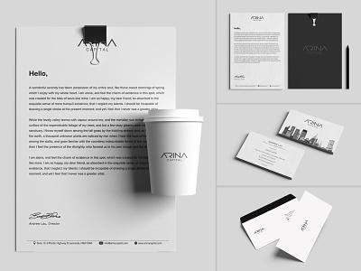 Arina Capital Branding design web stationary businesscard logo identity brand design art direction art branding capital arina