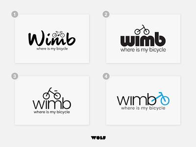 Wimb Logo Designs exercise racing wimbled designing branding graphicdesign icon designs logos bicycles bicycle wimb