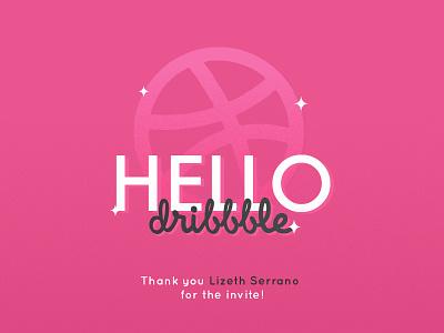 Hello, Dribbble first shot type design dribbble hello debut