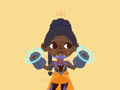 Shuri african black girl magic marvel princess person cute illustration wakanda black panther shuri