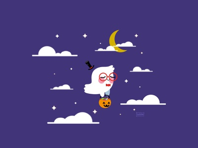 Trick or Treat clouds cute candy trickortreat ghost vector illustration